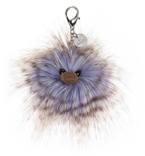 Jellycat knuffel Delphine Tas Sleutelhanger 6cm