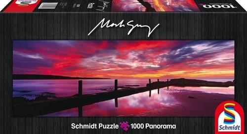 Schmidt legpuzzel Panorama, Eden Sea Baths,  Australia, 1000 stukjes