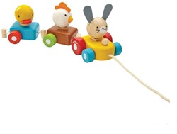 Plan Toys houten trekfiguur Animal Train Sorter 5434