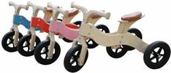 Van Dijk Toys houten loopfiets Dijk-Trike blauw 2 in 1