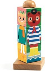 Djeco houten blokpuzzel Twistanimo