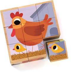 Djeco houten blokpuzzel PiouPiou & Cie