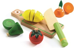 Djeco houten keukenaccesspore Groente en fruit om te snijden