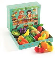 Djeco keuken accessoire fruit kraam Louis & Clementine - 12 stuks
