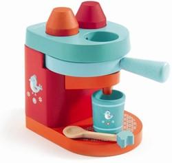 Djeco houten keuken accessoires mini koffiemachine