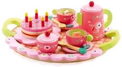 Djeco houten keukenaccessoire Lilli's roze thee feestje