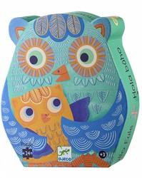 Djeco  legpuzzel Hello Owl - 24 stukjes