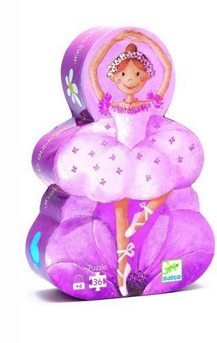 Djeco puzzel Ballerina met bloemen - 36 stukjes