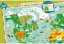Djeco  legpuzzel Reis rond de wereld  - 200 stukjes