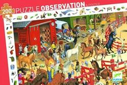 Djeco puzzel observation paarden