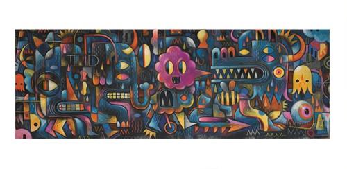 Djeco puzzel Monsterlijke kunst - 500 stukjes