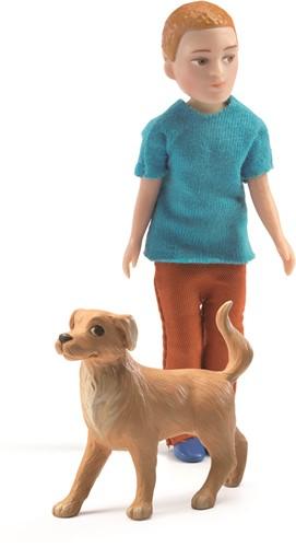 Djeco Poppenhuispop Xavier Met Hond