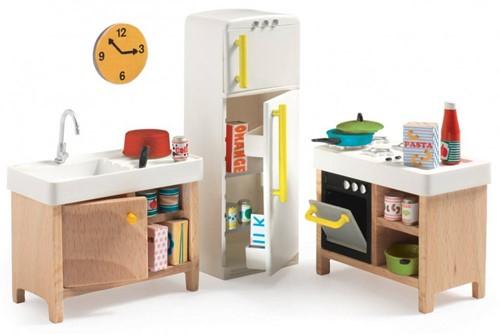 Djeco houten poppenhuismeubels De Keuken