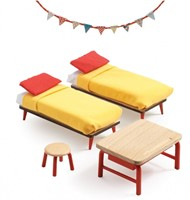 Djeco houten poppenhuismeubels Kinderslaapkamer