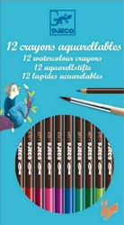 Djeco 12 watercolour pencils - Classic