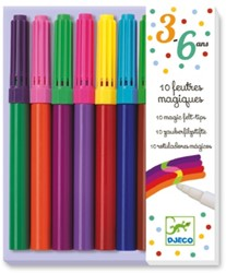 Djeco viltstiften 10 magic felt tips