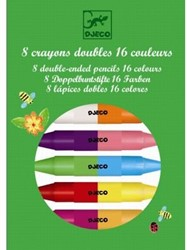 Djeco 8 twins crayons