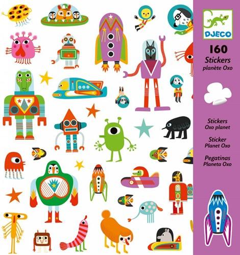 Djeco  stickers Oxo-Planeet-2