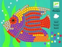 Djeco  knutselspullen Mozaiek vissen-1