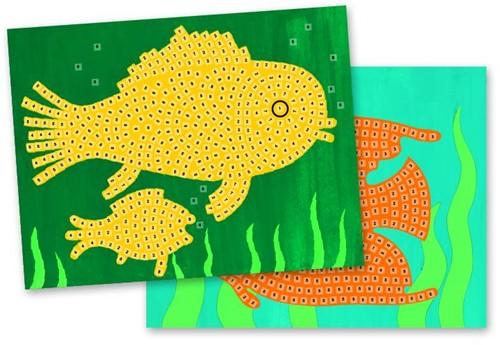 Djeco  knutselspullen Mozaiek vissen-2