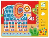 Djeco creatief mozaiek Olifant-1
