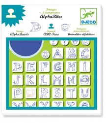 Djeco stempelset alfabeesten
