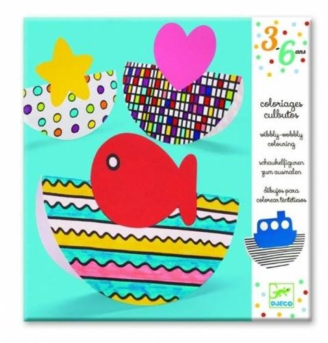 Djeco Wibbly-wobbly colouring-3
