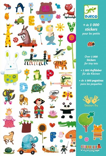 Djeco 1000 stickers for little ones-1