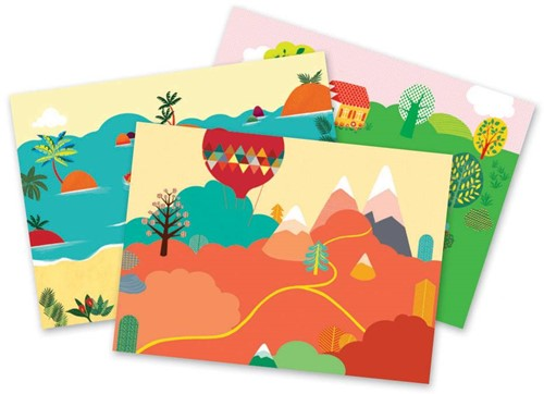 Djeco creatief Sea, mountains, and countryside: holidays are here!-2