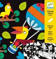 Djeco creatief Velvet colouring - Birdz-2