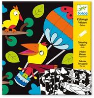 Djeco creatief Velvet colouring - Birdz-1