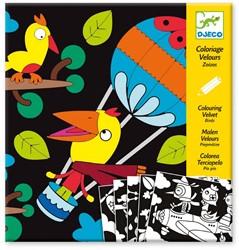 Djeco creatief Velvet colouring - Birdz