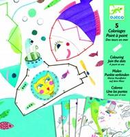 Djeco  knutselspullen Verbind de stippen, zee-3
