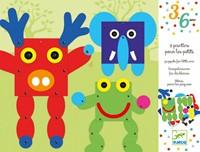 Djeco creatief trekpoppen dieren-2