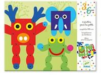 Djeco creatief trekpoppen dieren-1