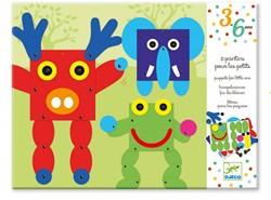 Djeco creatief trekpoppen dieren