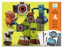Djeco  knutselspullen Paper Toy Urban Robotmaatjes