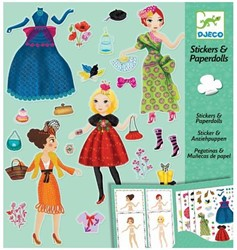 Djeco creatief Paper dolls - Massive fashion