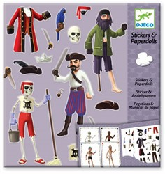Djeco creatief Paper dolls - Pirates