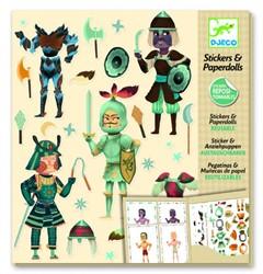 Djeco creatief Paper dolls - Knights