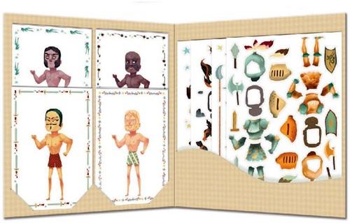 Djeco creatief Paper dolls - Knights-2
