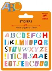 Djeco Mini stickers Lettres colorées
