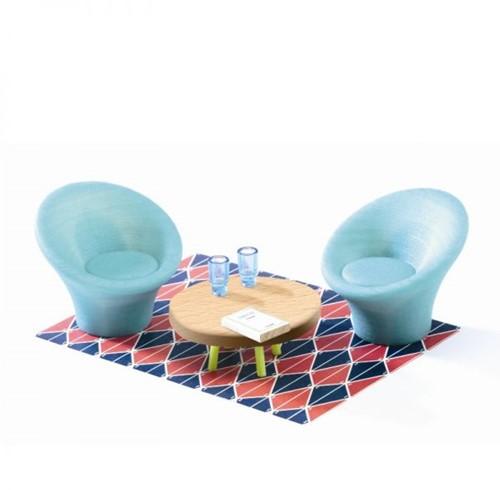 Djeco poppenhuis The blue living room-1
