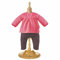"Corolle poppenkleding Bb12"""" Blouse & Denim Raspberry  DMN14-1"