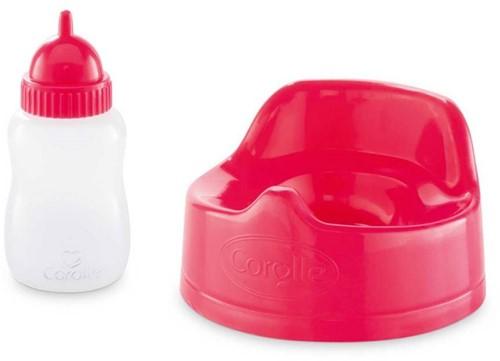 Corolle poppen accessoires Potty & Milk Bottle Cherry DMT94-1