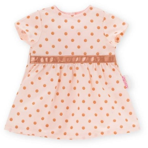 "Corolle poppenkleding Bb12"""" Dress Golden Pink  DMV06-1"