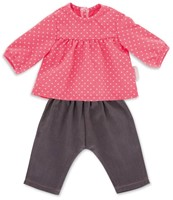 "Corolle poppenkleding Bb17"""""""" Blouse & Denim Raspberry  DNG90"