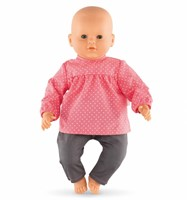 "Corolle poppenkleding Bb17"""""""" Blouse & Denim Raspberry  DNG90-2"