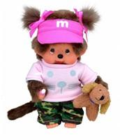 Monchhichi  knuffelpop Meisje Hondentrainer - 20 cm-1