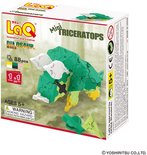 LaQ Dinosaur World Mini Triceratops